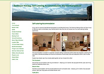 Dartmoor Holiday - CMS website